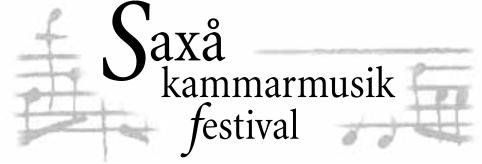 Saxå Kammarmusikfestival